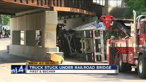 100 Truck Stuck Under Bridge Railroad Bridge Hit Twice In Less Than A Week In Walkers Point
