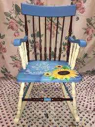 Painted Rocking Chair, Painted With Acrylic. Sunflowers And ... Grain Painted Spindle Back Rocking Chair 19th Century Red Primitive Antique Hand Childs Wwwthepaintedflower American Black Wood Windsor Colonial Kids Wooden Handpainted Ranch Armchair Rare C 1750 Five Slat Ladderback Rocker W Scenes And Tall Post Finials 1960s Black Rocking Chair Spray Find It Make Love Merry Products White Mpgpt41110wp Beach Natural Lumber Hot Sell 2016 New Office Chairs Buy Farmhouse Milk Paint 101 A Purdy Little House Pating At Patingvalleycom Explore Cane Picket