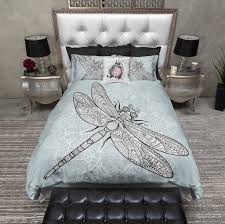 Dragonfly Mandala Duvet Bedding Sets Ink and Rags
