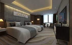 100 Modern Luxury Design 3D Model Hotel DoubleBed Room