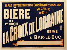Biere La Croix De Lorraine Vintage Beer Poster