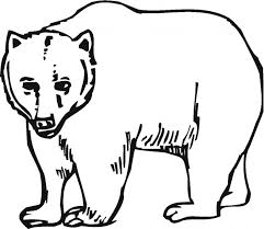 Grizzly Bear Coloring Page Printable