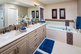 electric blue accessories such as rugs and towels into your