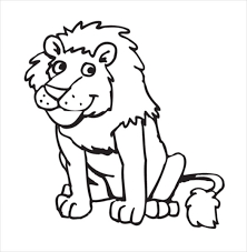 Lion Drawing Free PDF Format Template Download