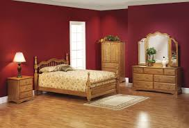 Pretty Country Romantic Master Bedroom Design With Wooden Bed Added Dresser Vanities And Corner Wardrobe In Red Ideas