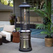 Pyramid Patio Heater Glass Tube by Red Ember Carbon Collapsible Gun Metal Glass Tube Patio Heater