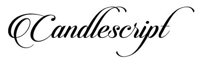 Candlescript Free Font Download