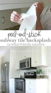 Make A White Subway Tile Temporary Backsplash With Removable Wallpaper Follow This Tutorial For