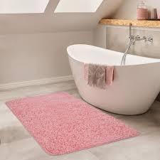 badezimmer teppich hochflor badematte rutschfest waschbar