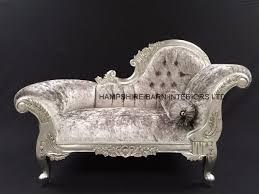 Ebay Chaise by Small French Chaise Longue Silver Leaf Mercury Grey Crystal Sofa