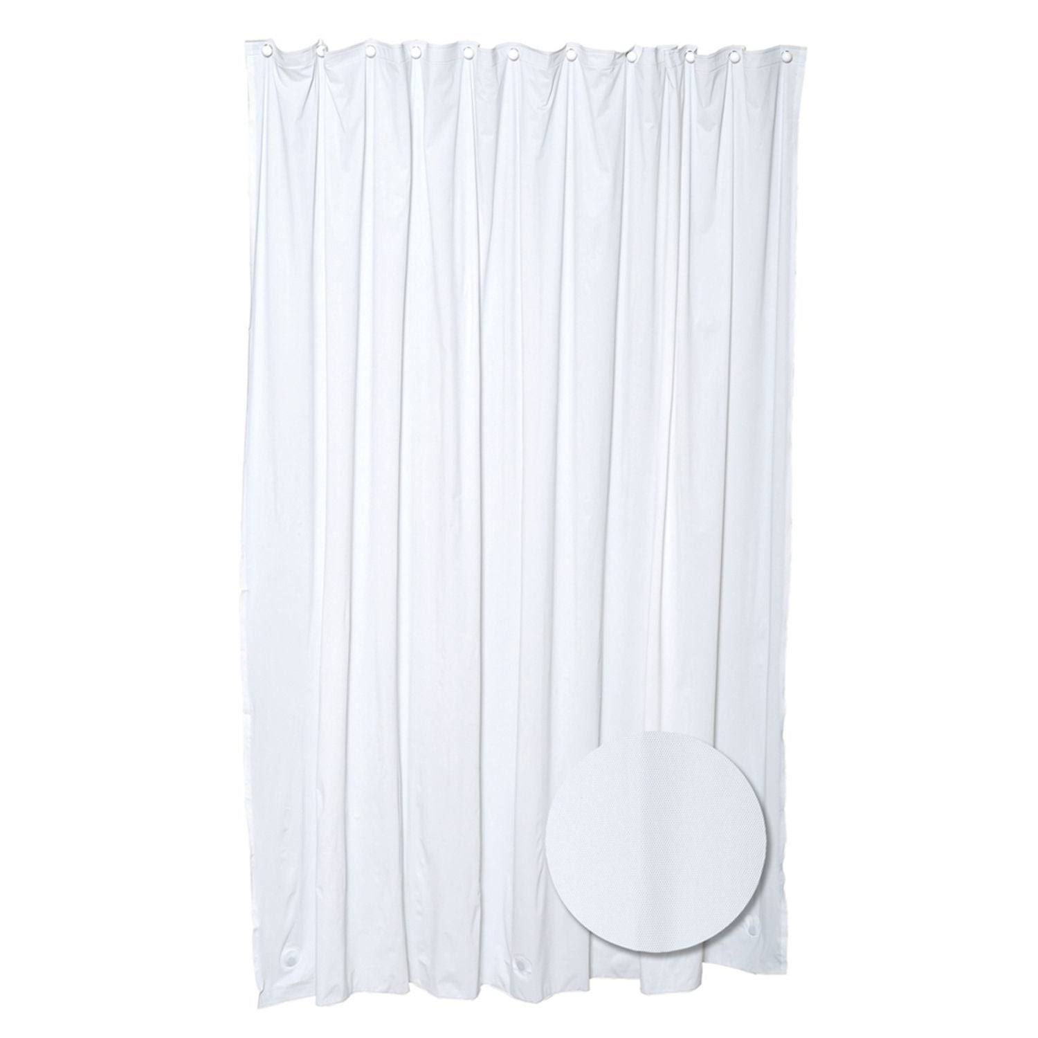 Zenith Medium Gauge Vinyl Shower Curtain Liner - H28W