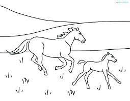 Horses Coloring Pages Foal Horse To Print 2 Mother And Running