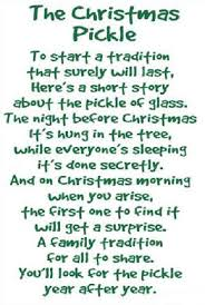 Pickle On Christmas Tree Myth by German Christmas Pickle Story Princess Decor