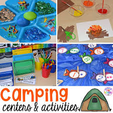 Camping Themed Centers And Activities For Preschool Pre K Kindergarten Students