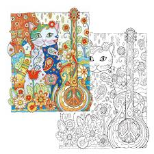 24 Page Creative Haven Cats Colouring Book For Adults Antistress Coloring Secret Garden Series Adult In Books From Office