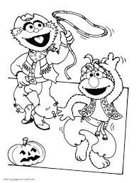 Disney Jr Halloween Coloring Pages by Sesame Street Printable Coloring Pages
