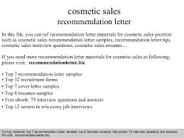 Cosmetic Sales Resume