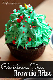 Rice Krispie Christmas Trees Recipe by Christmas Tree Brownie Bites Recipe
