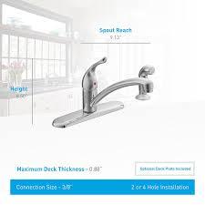 Moen Chateau Kitchen Faucet 67430 by Moen 7430 Chateau One Handle Low Arc Kitchen Faucet Chrome
