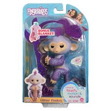 WowWee Fingerlings Monkey Toy Kiki Purple Glitter Exclusive 100 Authentic