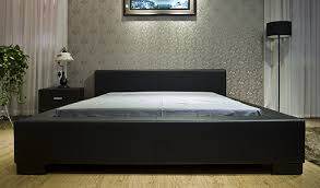 Cal King Bed Frame With Lighting Lamp And Brown Carpet Also Wooden Cabinet For Bedroom