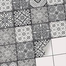 90 stück mosaik fliesen wandaufkleber küche bad fliesenfolie