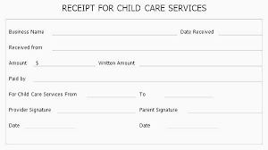 Free Daycare Receipt Template Best Child Care Tax Of