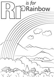 Click To See Printable Version Of Letter R Is For Rainbow Coloring Page