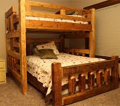 reclaimed colorado barnwood bunk bed