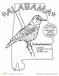First Grade Coloring Worksheets Alabama State Bird