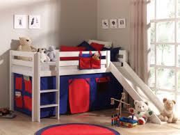 chambre mezzanine enfant lit mezzanine enfant avec toboggan en pin massif blanc laqué maxou