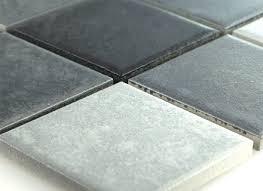 Details About Ceramic Mosaic Tiles Grey Mix Non Slip 1 Sheet
