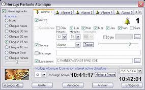 horloge parlante pour pc windows logiciel gratuit pc windows à