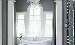 luxus badezimmer grau mit gardinen grau freshouse
