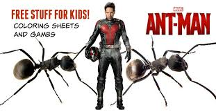 Free Ant Man Games And Coloring Sheets From Marvel