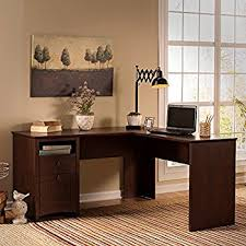 Bush Cabot L Shaped Desk Office Suite by Amazon Com Cabot L Shaped Desk In Espresso Oak Kitchen U0026 Dining