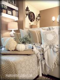 My Ugly Splitlevel Fall Living Room