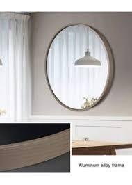 runder spiegel wandspiegel mit metallrahmen hängender