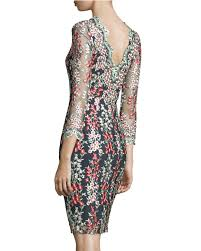 erin fetherston garland wisteria embroidered sheath dress in black