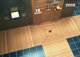 Teak Shower Floor Insert Showers Wood Base Full Image For Tray A