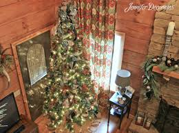 There Are Two Exterior Doors Flanking The Fireplace So Placing Tree In Front Of A Door Worked Out Great