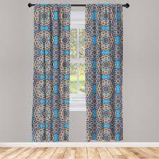 gardine fensterbehandlungen 2 panel set für wohnzimmer schlafzimmer dekor abakuhaus marokkanisch marokkanische keramik fliese kaufen otto