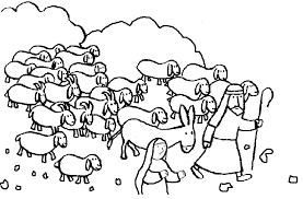 Good Shepherd Lost Sheep Parable Coloring Pages Gekimoe 104454