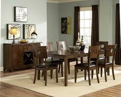 Rich Brown Mocha Finish Modern Dining Table W Optional Items