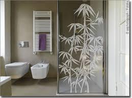 glasdekor asia bambus pflanzen aufkleber fürs fenster