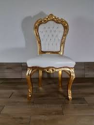 barock esszimmer stuhl gold weiß