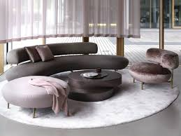 100 Image Of Modern Living Room Seductive Curved Sofas For A Design