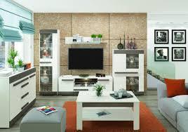 wohnzimmer komplett set c knoxville 6 teilig farbe kiefer weiß grau