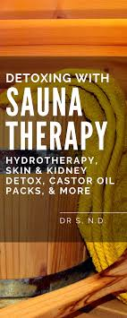 does sauna therapy hydrotherapy help you detox sauna