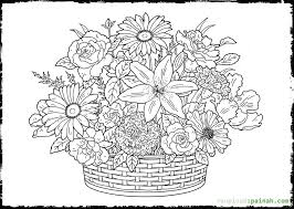 Advanced Flower Coloring Pages 16 Awesome For Older Kids Images